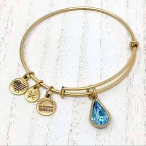 ALEX AND ANI + Gift March Birthstone Bangle